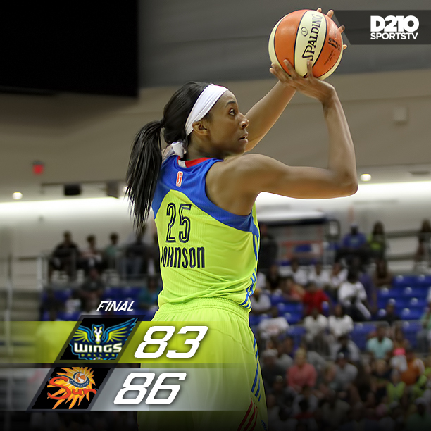 WINGS FALL SHORT TO SUNS