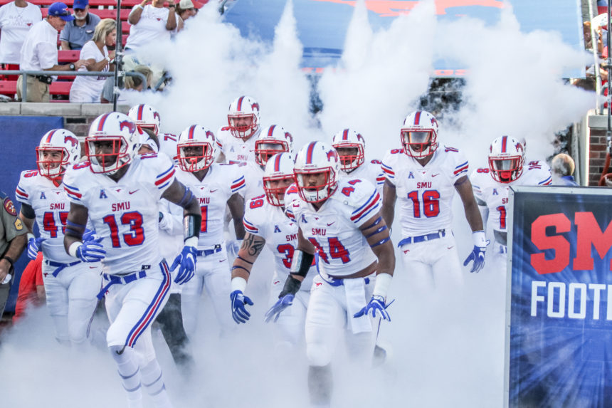 SMU FOOTBALL OPENS FALL CAMP