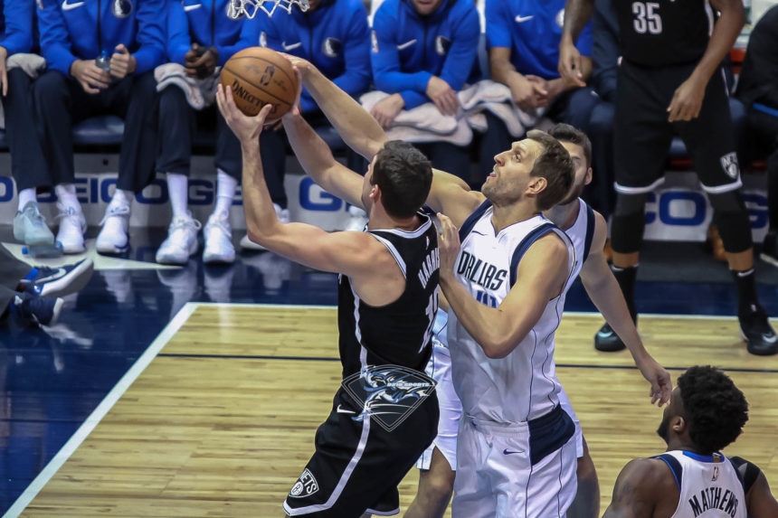 MAVS COME UP SHORT AGAINST THE NETS